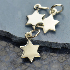 A1448   -SV-CHRM Sterling Silver Star of David Charm
