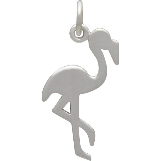 Sterling Silver Flamingo Charm - Animal Charm