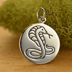 A1587   -SV-CHRM Sterling Silver Cobra Charm - Spirit Animal DISCONTINUED