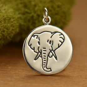 A1589   -SV-CHRM Sterling Silver Elephant Charm - Spirit Animal DISCONTINUED