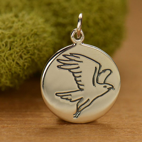 A1590   -SV-CHRM Sterling Silver Falcon Charm - Spirit Animal DISCONTINUED