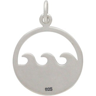 Sterling Silver Ocean Waves Pendant