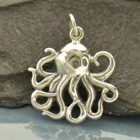 A1656   -SV-CHRM Medium Sterling Silver Octopus