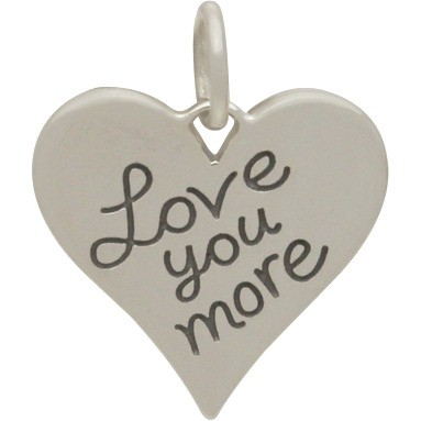 Sterling Silver Word Charm - Love You More