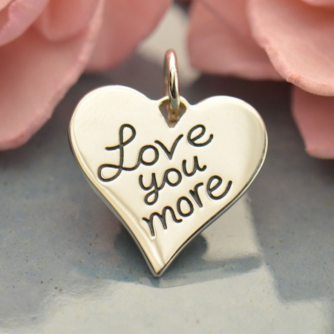 A1686   -SV-CHRM Sterling Silver Word Charm - Love You More