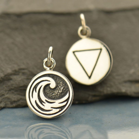 A1703   -SV-CHRM Sterling Silver Water Charm - Four Elements