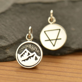 A1707   -SV-CHRM Sterling Silver Earth Charm - Four Elements