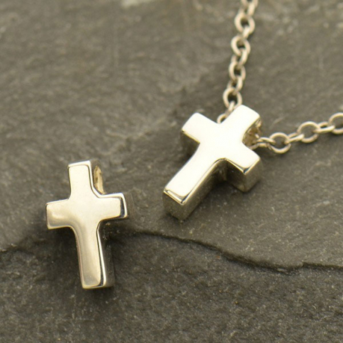 A1731   -SV-BEAD Sterling Silver Cross Bead