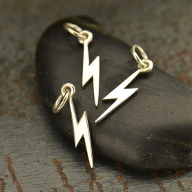 A1732   -SV-CHRM Sterling Silver Tiny Lightning Bolt Charm