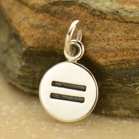 A1735   -SV-CHRM Sterling Silver Equality Sign Charm