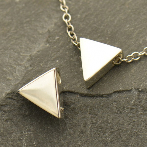A1737   -SV-BEAD Sterling Silver Triangle Bead