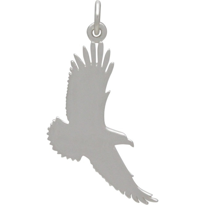 Sterling Silver Flying Eagle Charm - Graduation Charm