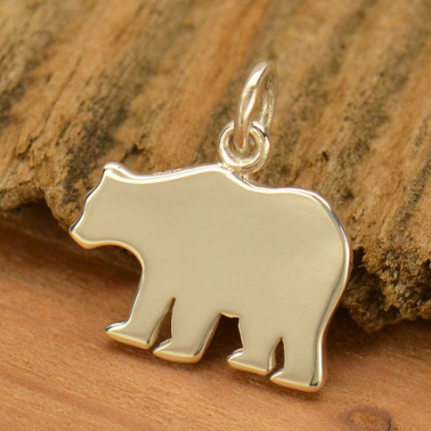 A1835   -SV-CHRM Sterling Silver Mama Bear Stamping Blank
