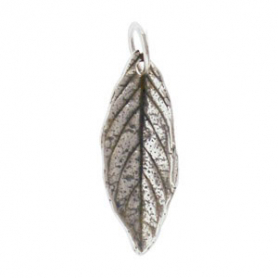 A391    -SV-CHRM Sterling Silver Mint Leaf Charm - Medium