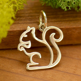 A4001   -SV-CHRM Sterling Silver Squirrel Charm - Openwork