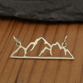 A4047   -SV-FEST Sterling Silver Mountain Pendant Festoon