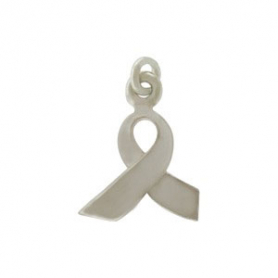 A540    -SV-CHRM Sterling Silver Awareness Ribbon Charm