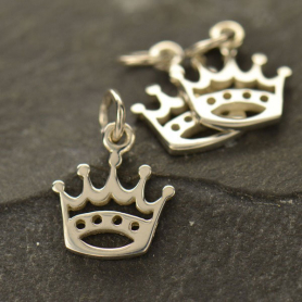 A576    -SV-CHRM Sterling Silver Crown Charm