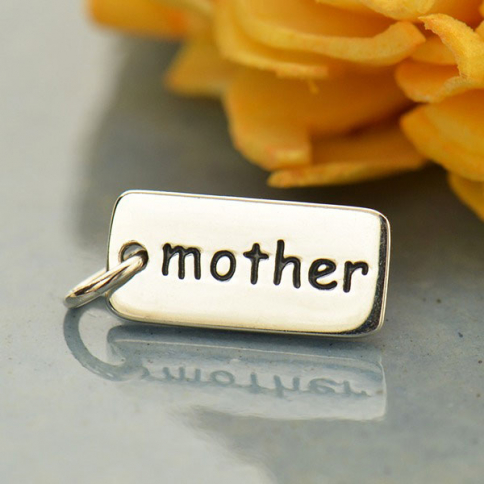 A594    -SV-CHRM Sterling Silver Word Charm - Mother