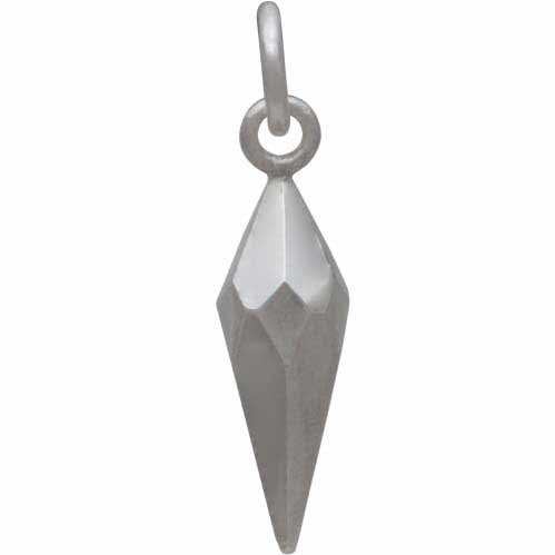 Sterling Silver Small Faceted Spike Charm