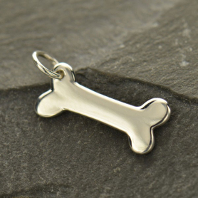A801    -SV-CHRM Sterling Silver Dog Bone Stamping Blank