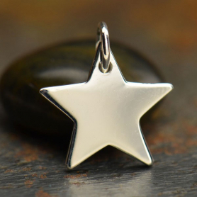 A864    -SV-CHRM Sterling Silver Large Star Charm -15mm