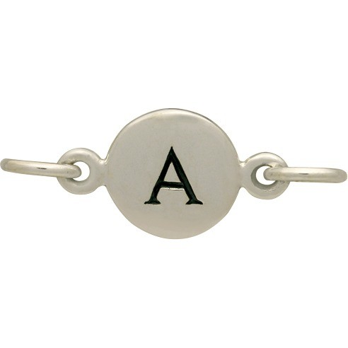Sterling Silver Initial Charm Links - Letter A DISCONTINUED