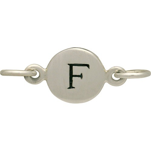 Sterling Silver Initial Charm Links - Letter F DISCONTINUED