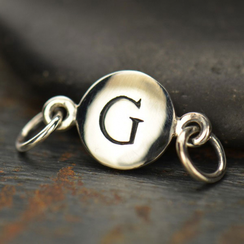 A8G     -SV-LINK Sterling Silver Initial Charm Links - Letter G DISCONTINUED