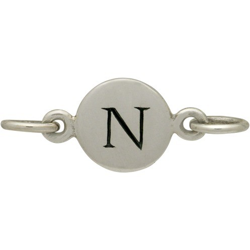 Sterling Silver Initial Charm Links - Letter N DISCONTINUED