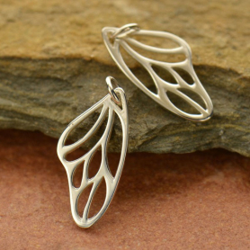 A943    -SV-CHRM Sterling Silver Butterfly Wing Charm - Small