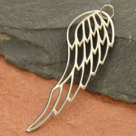 A964    -SV-CHRM Sterling Silver Wing Pendant DISCONTINUED