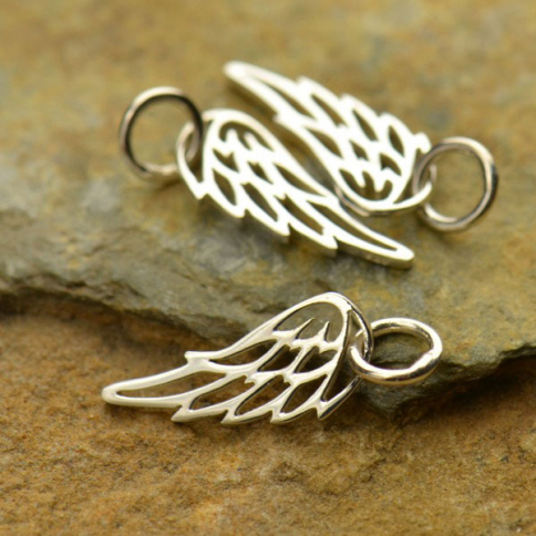 A971    -SV-CHRM Sterling Silver Wing Charm - Tiny