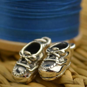 A993    -SV-CHRM Sterling Silver Baby Shoe Charm