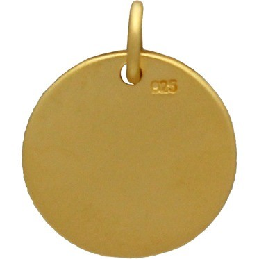 Round LOVE charm with Pawprint in 24K Gold PlateDISCONTINUED