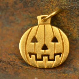 GA1416  -SV-GP1-CHRM Gold Charm - Pumpkin with 24K Gold Plate DISCONTINUED