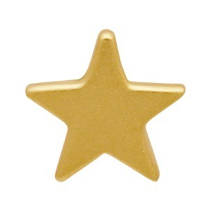 Gold Bead - Small Star with 24K Gold Plate