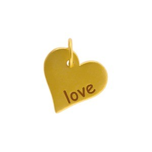 Gold Word Charms - Love with 24K Gold Plate DISCONTINUED