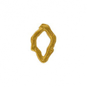 GA779   -SV-GP1-LINK Small Oval Textured Branch in 24K Gold Plate DISCONTINUED