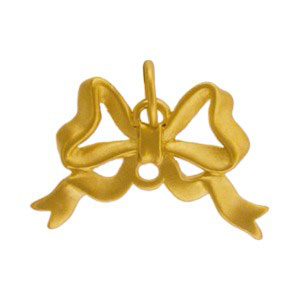 GA790   -SV-GP1-CHRM Gold Charms - Large Bow with 24K Gold Plate DISCONTINUED