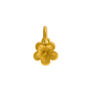 GA937   -SV-GP1-CHRM Gold Charms - Cherry Blossom with 24K Gold Plate