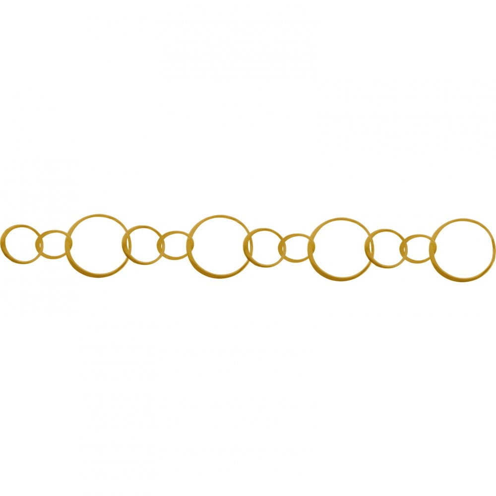 Gold Chain - Handmade Lg Circles with 24K Gold Plate