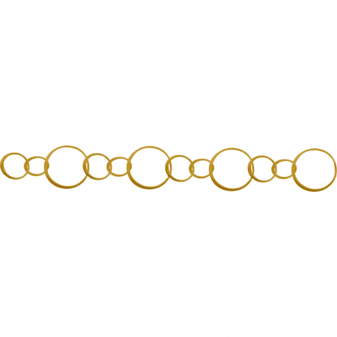 GCH32   -SV-GP1-CHAN Gold Chain - Handmade Lg Circles with 24K Gold Plate
