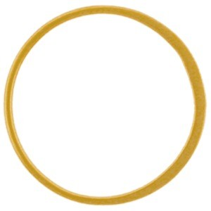 24K Gold Plated Half Hammered Circle Jewelry Link -25mm