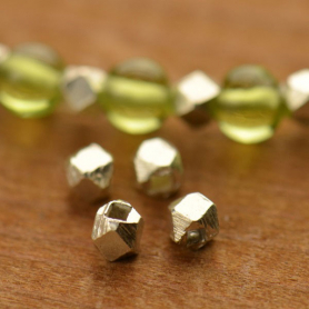H301    -SV-SPCR Sterling Silver Spacer Beads - Medium Faceted Bead