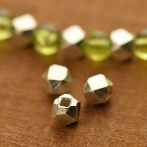 H302    -SV-SPCR Sterling Silver Spacer Beads - Large Faceted Bead