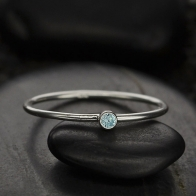 Sterling Silver Ring - Birthstone Ring - March