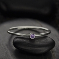 Sterling Silver Ring - Birthstone Ring - June