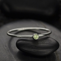 Sterling Silver Ring - Birthstone Ring - August