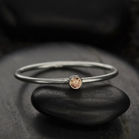 Sterling Silver Ring - Birthstone Ring - November